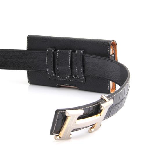 Universal Waist Packs for Men Fashion PU Leather Litchi Grain Belt Pouch 4.7~5.7 inch Mobile Phone Bags Belt Clip Case Waist Bag