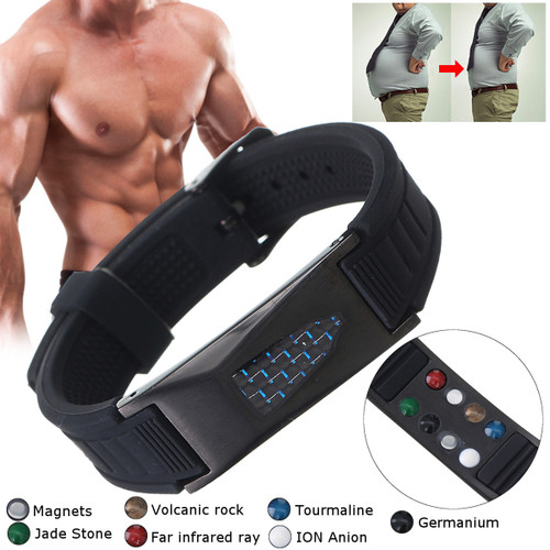 7 in 1 Titanium Magnetic Energy Armband Power Bio Bracelet Health Pain Relief Magnet Health Bracelet 2019 New