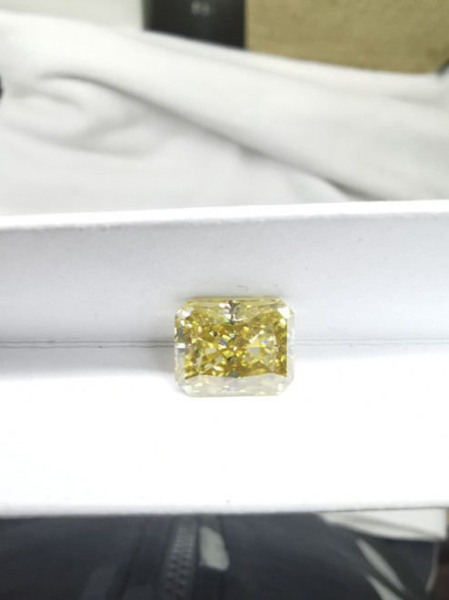 Cushion cut 7*9 mm yellow moissanites for engagement ring moissanites gems