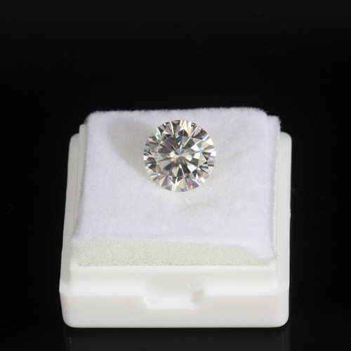 Certified E/F Super White 10mm Round Brilliant Cut Gem Stones Moissanites 4ct Loose Moissanite Bead for Jewelry making
