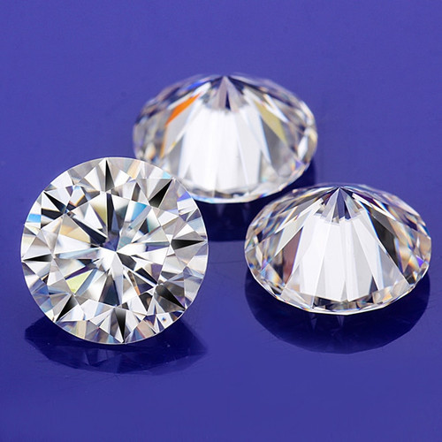 Starszuan Loose Moissanite 6.5mm DEF Round Brilliant Cut VVS Moissanite Bead High Quality 1ct Loose Gem for Jewelry making