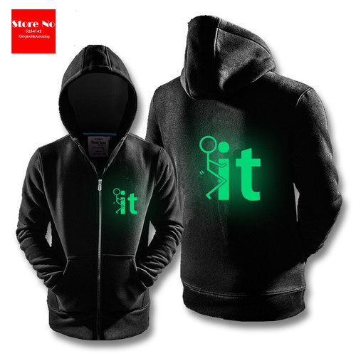Glow Autumn Winter 3D Print Sweatshirts Men and Woman Hoodies Fashion Cosplay Zipper Hooded Jacket Clothing