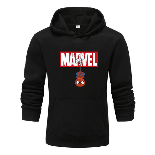 Hoodies Men 2019 Autumn Winter Men Women Fleece Long Sleeve Sportswear pullover Marvel Print Hooded Sweatshirt