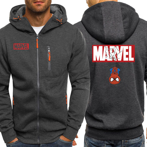 Marvel Spiderman Print Zipper Jacket Mens Autumn New Men Hoodies Sweatshirts Casual Fleece Coat Male Fashion Brand Tracksuit