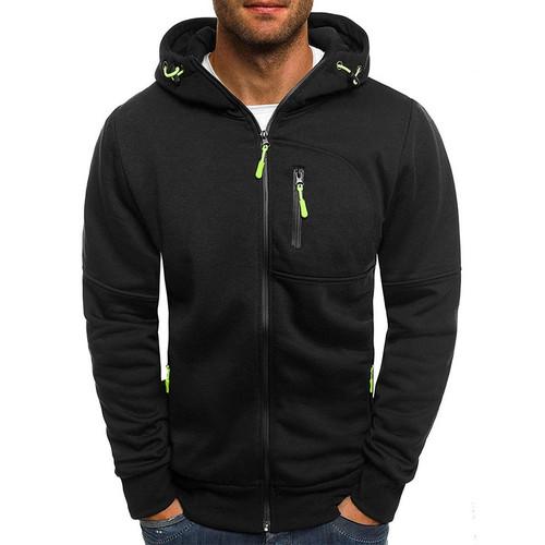 Jodimitty Men Sports Casual Wear Zipper COPINE Fashion Tide Jacquard Hoodies Fleece Jacket Fall Sweatshirts Autumn Winter Coat