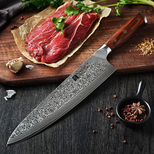XINZUO 10 inch Chef Knife Japanese Damascus Steel Kitchen Knives Best Quality Professional Gyuto Knife For Hotel and Restaurant