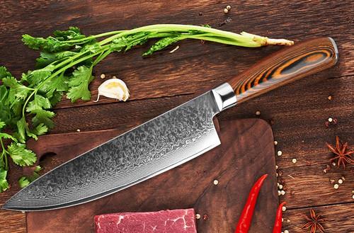 XITUO Chef Knife Damascus Bone Knife Utility Japan vg10 Malaysia Kitchen Knife Utility Micarta Handle Professional Kitchen Knife