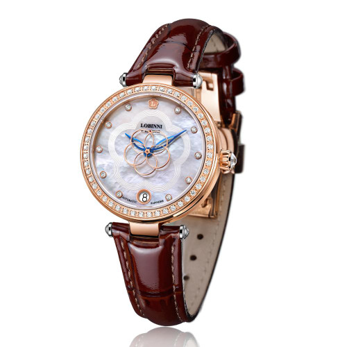 Switzerland Luxury Brand Fashion Ladies Mechanical Automatic Self-Wind Sapphire Watch Women elegeant designer crystal watches