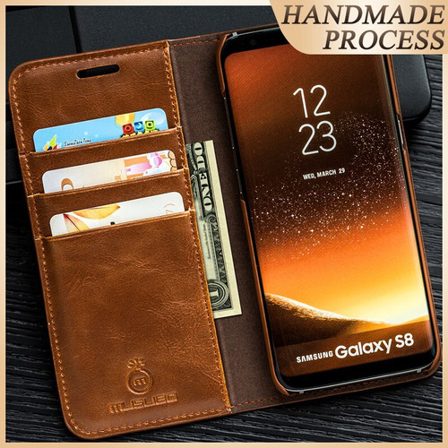Musubo Luxury Case For Galaxy Note 10+ 10 Plus 8 flip cover for Samsung S10 + S10e S8 Plus Leather Wallet Cases Note 9 S9+ Funda