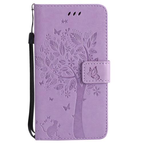 MuTouNiao Light Purple Leather Flip Case Cover For Xiaomi Redmi Mi Note Mix 2 3 3S 4X 5 5X 6 7 8 A1 A2 Lite Pro Pocophone F1