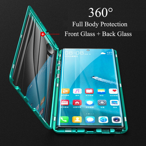 Double Side 360° Magnetic Metal Glass Case For Samsung Galaxy S8 S9 S10 Plus 5G Note 8 9 10 Plus A50 A60 A70 A10 A30 A7 A9 2018