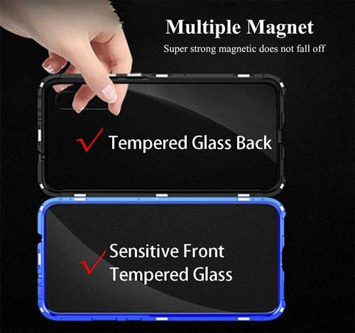 Double Side 360 Degree Magnetic Adsorption Glass Case For Mi Xiaomi Redmi K20 Note 10 7 8 Pro 9 9T CC9 CC9e Se 8 8A Phone Cover