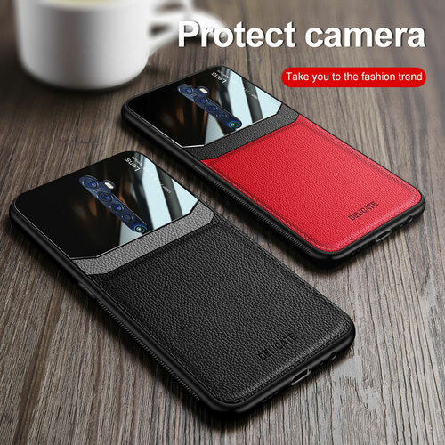 Phone Case for OPPO Reno 2 2z Case Luxury Business PC Grained Leather Shockproof Back Case for Reno 2 Reno 2z Case Accessories