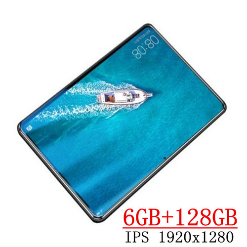 2020 New 10.1 inch the Tablet Android 9.0 8 Core 6GB RAM + 128GB ROM Dual Camera 8MP SIM Tablet PC Wifi GPS FM 3G 4G Lte phone
