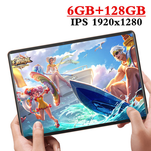 2020 New design 10.1 inch Tablet Android 9.0 8 Core 6GB RAM + 128GB ROM Dual Camera 8MP SIM Tablet PC Wifi GPS 4G Lte phone