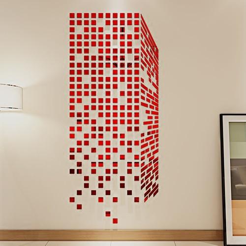 New arrival Rubik's Cube Acrylic mirror wall stickers Bedroom TV wall 3d wall stickers DIY art wall decor