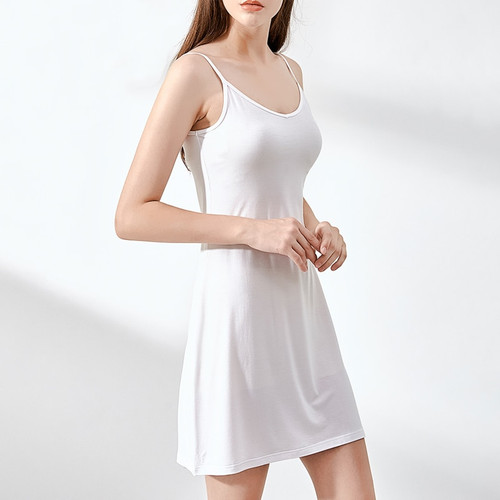 Summer Women Dress Casual Solid Spaghetti Strap Short Smooth Sleeveless Dress Womens Under Ladies Clothing Dresses
