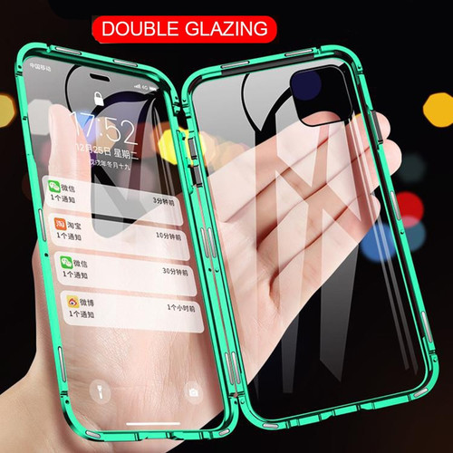 Metal Magnetic Adsorption Case For iPhone 11 Pro XR X XS Max 11 7 8 Plus Double Sided Tempered Glass Full Protective Phone Cover