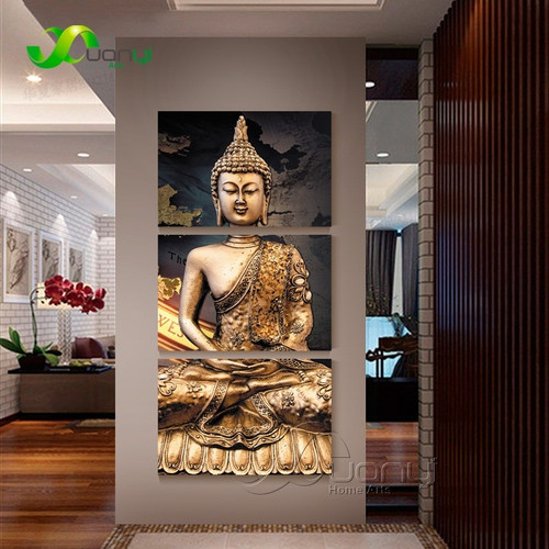 Modern Buddha Status Canvas Art Painting Poster And Print Canvas Wall Picture For Living Room Cuadros Buddha Picture Unframed