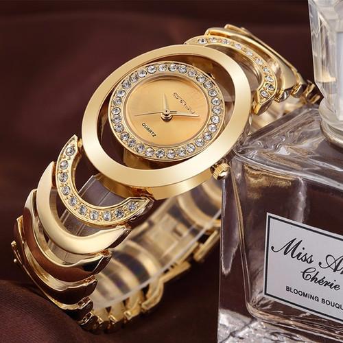 CRRJU Watches Women Top Luxury Brand Crystal Gold Ladies Quartz Wristwatches Bracelet Steel Watch Relogio Feminino Relojes Mujer