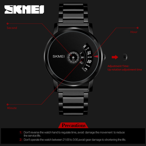 Mens Watches Top Luxury Brand SKMEI Military Sports Watches Quartz Hour Clock Male Full Steel Watch Man Relogio Masculino 1260