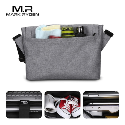 Mark Ryden Men's Bag Canvas Shoulder Bag For 12.9inch Ipad Casual Crossbody Bag Waterproof Business Shoulder bag for men