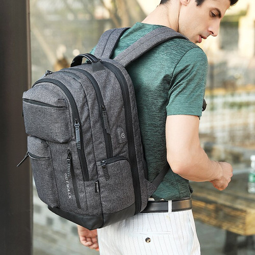 Mark Ryden New Style Nylon Backpack Men's Business Multi-functional Three Layer Backpack Waterproof Travel Computer Bag