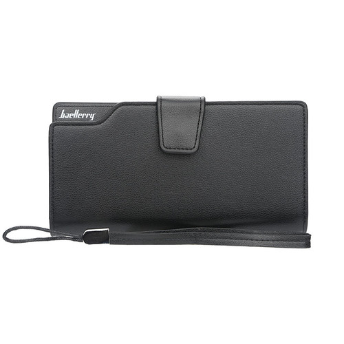 Baellerry Luxury Brand Men's Wallets Men Long Purse Wallet Male Clutch PU Leather Zippers Wallet Men Business Wallet Coin Purse