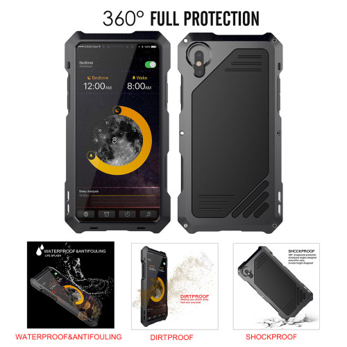 3-Layers Hybrid Shockproof Phone Cases for iPhone 7 6 6S Plus 8 Plus X Full Protect Case with 3 in 1 15X Macro Lens + Glass