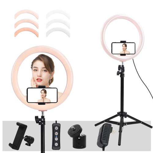 """12"""" LED Ring Light Annular Lamp Bi-color 3200K-5500K CRI95 24W Ring Lamps for Video YouTube Photo Ringlight Makeup Light"""