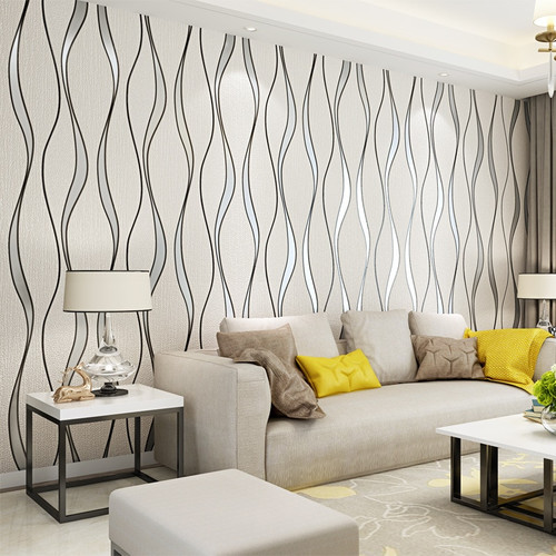 3D Striped Wallpaper For Walls Roll Living Room TV Background Wall Decoration Paper Wall Papers Home Decor Modern Papier Peint