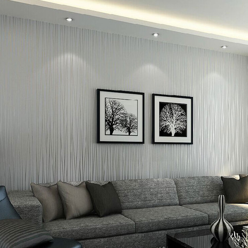 Non-woven Wallpaper Modern Solid Color Vertical Striped Wallpaper Roll Bedroom Living Room TV Backdrop Wall Papers Home Decor