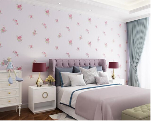 beibehang Nonwoven pastoral European large flowers 3D stereo papel de parede wallpaper living room wedding pink TV background