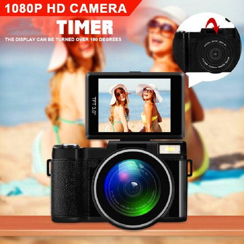 24MP HD CDR2 Professional Digital Camera 4x Zoom w/ Macro Wide Angle Lens 1080P Digital Video Camcorder DVR Recorder
