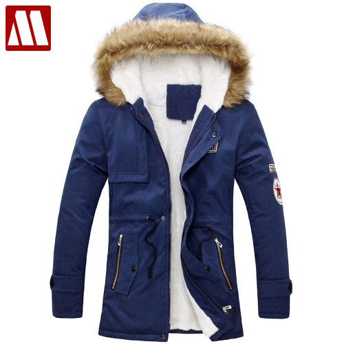 New 2019 fashion men's winter Fur Hoody collar jackets fur hooded warm casual men overcoat coats parkas good quality clothing
