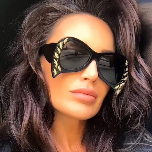 Women Sunglasses Oversized Novelty Personality Bat Brand Glasses Fashion Male Female Shades 45388