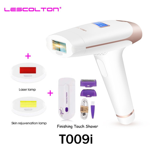 Lescolton IPL Epilator Permanent Laser Hair Removal LCD Display Pulses depilador a laser Bikini Trimmer Photoepilator