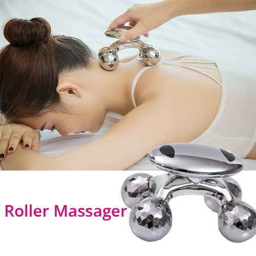 4D Roller Slimming Massager Anti-cellulite Full Body Shape Massager Wrinkle Remover Face Skin Lifting Tightening Roller Massager
