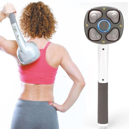New Electric 4D Massager neck massage hammer.Vibration body massage stick.Roller Cervical vertebra massager device