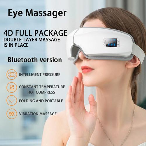 4D Smart Airbag Vibration Eye Massager Eye Care Instrument Hot Compress Bluetooth Eye Fatigue Massage Glasses