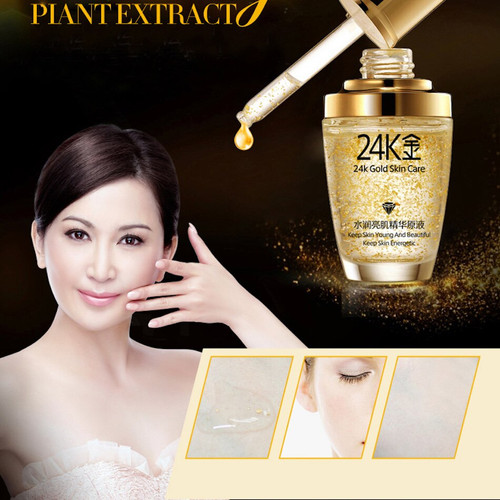 BIOAQUA 24K Gold Face Cream Whiten Moisturizing 24 K Gold Day Cream Hydrating 24K Gold Essence Serum For Women Face Skin Care