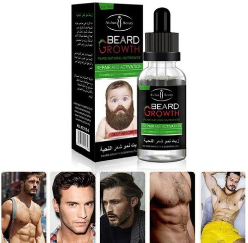 2018 Professional Men Beard Growth Enhancer Facial Nutrition Moustache Grow Beard Shaping Tool Beard care products