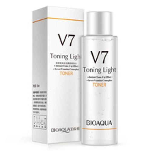 BIOAQUA V7 toning Toner lazy makeup supple skin care Moisturizing Whitening Anti-aging Anti Wrinkle brighten skin 120ml