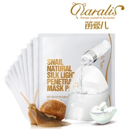 10PCS Snail Serum Facial Mask Deep Moisturizing Sheet Masks for Face Skin Care Acne Treatment Whitening Anti Winkles Tender Baby