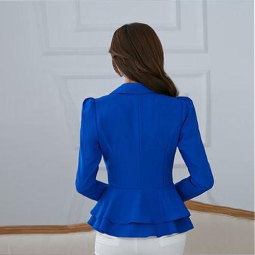 2020 Fashion Hot New women blazers and jackets long-sleeve slim blazer ruffle short blazer design candy color Outerwear & Coats