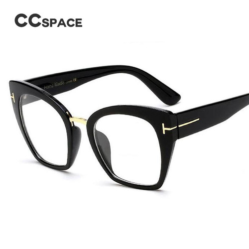 45079 Lady Oversized Glasses Frames For Women Brand Designer Optical EyeGlasses Fashion Rivet T Cat Eye Eyewear