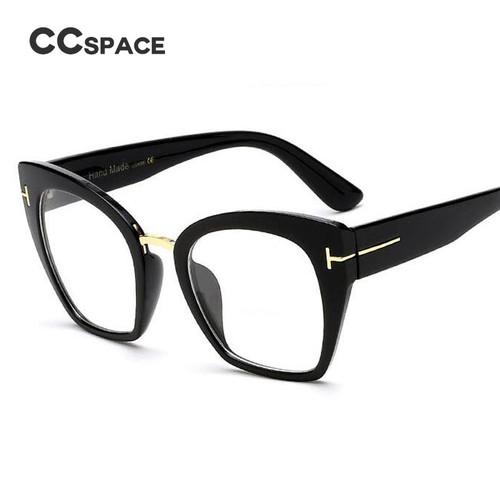 45079 Lady Oversized Glasses Frames For Women Brand Designer Optical EyeGlasses Fashion Rivet T Cat Eye Eyewear
