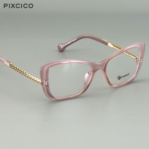 Pixcico 45778 Retro Square Glasses Frames Men Women Optical Fashion