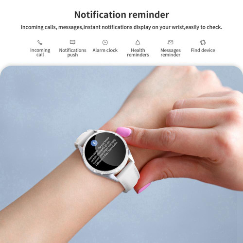 LEMFO Women Smart Watch IP68 Waterproof For Iphone Android Phones Heart Rate Blood Pressure Monitor Gift for Ladies Women