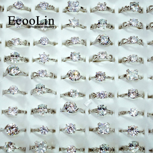 10Pieces AAA Zircon Engagement Rings for women Wedding rings lots female anel Jewelry Austrian Crystals Jewelry top quality 4041